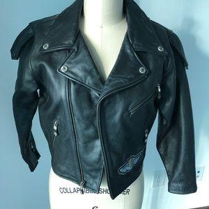 Harley Davidson kids leather biker jacket